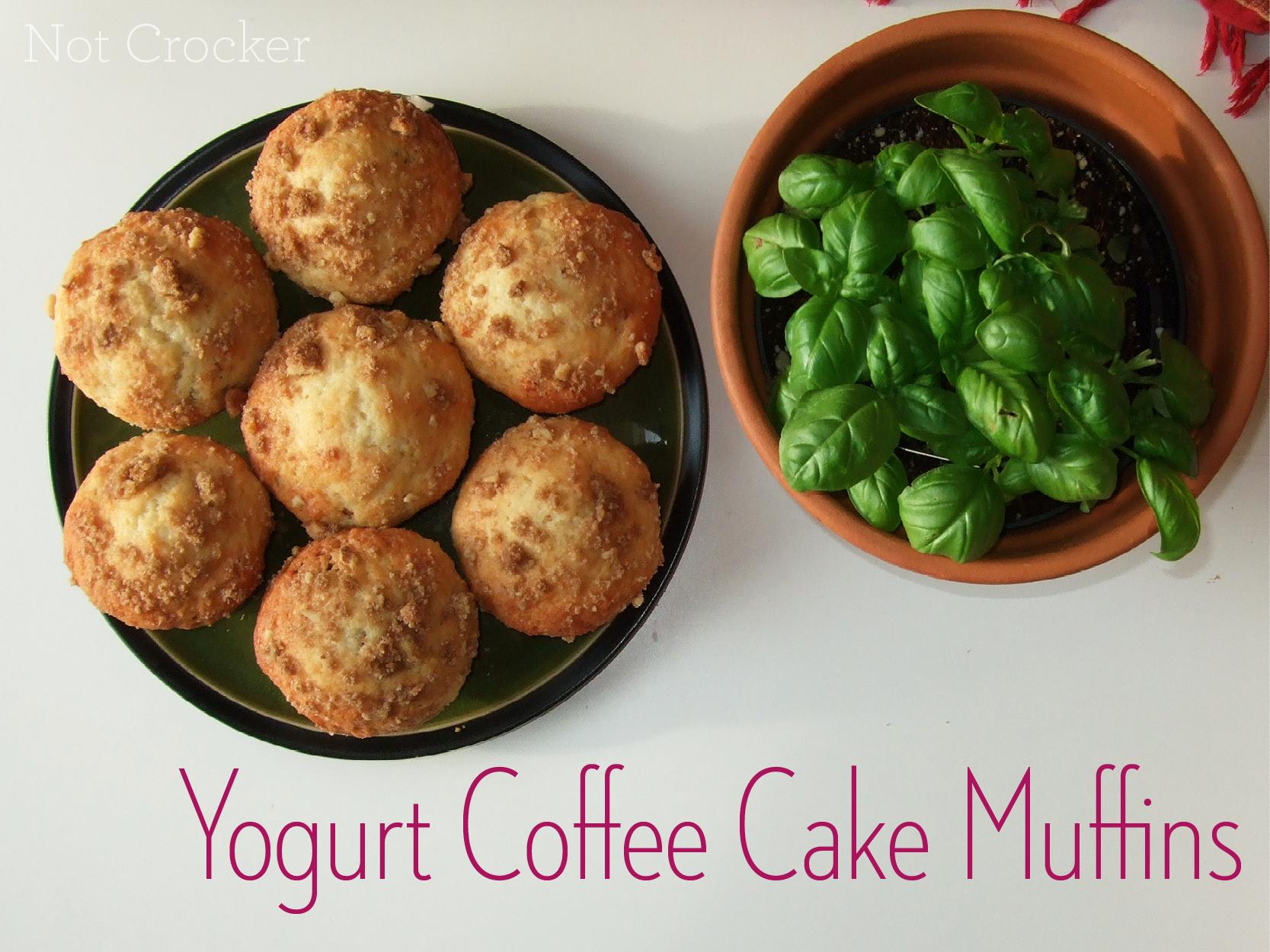 Yogurt Coffee Cake Muffins |